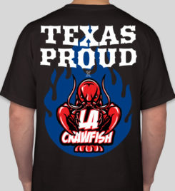 LA Crawfish Black Texas Proud T-Shirt Photo