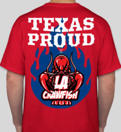 LA Crawfish Red Texas Proud T-Shirt Photo